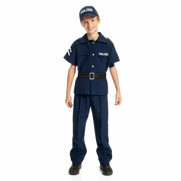 polizei kostüm kinder komplett mit mütze