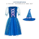 Zauberin Mädchen blau 140