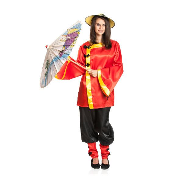 Chinesen Kostum Damen Komplett Asiatischer Look Kostumplanet 29 99