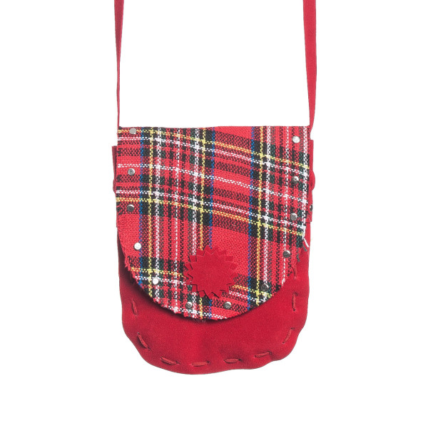 Schotten Tasche rot