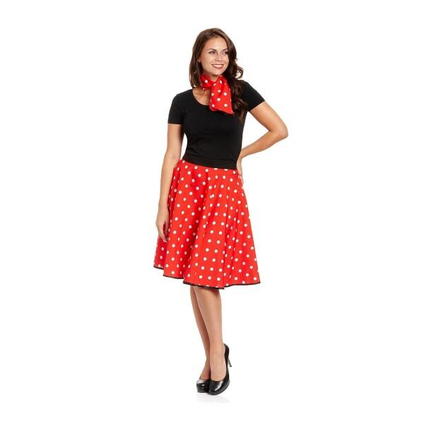 Tellerrock rot Damen 50er Jahre