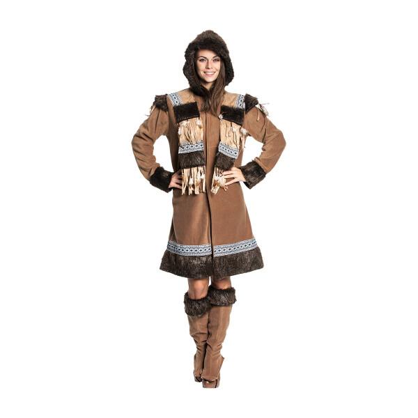 Eskimo Kostum Damen Komplett Stulpen Karnevalskostum
