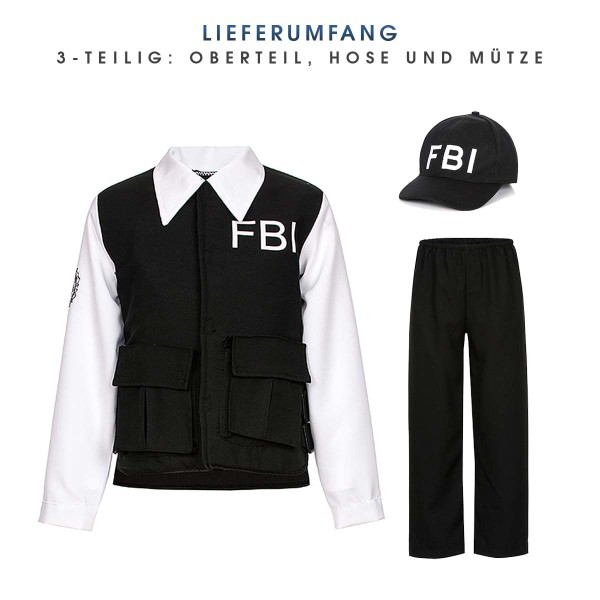 fbi kinder kostüm