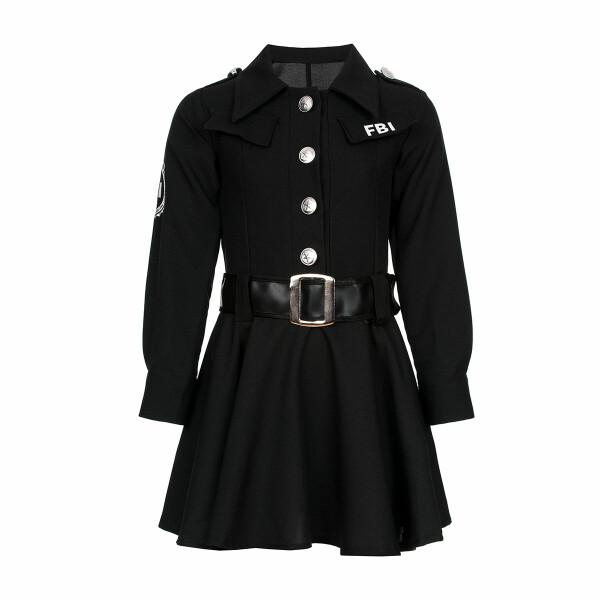 fbi kostüm mädchen schwarz