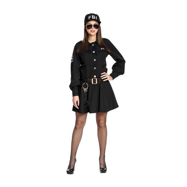 fbi damen kostüm schwarz