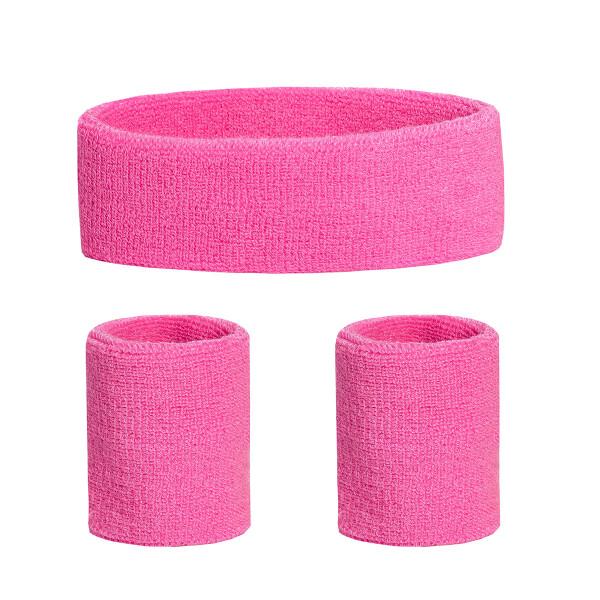 Schweißband Set 3 tlg. rosa