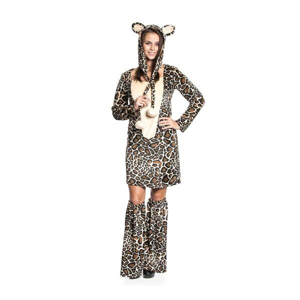 giraffe kost m damen komplett mit m tze afrika. Black Bedroom Furniture Sets. Home Design Ideas