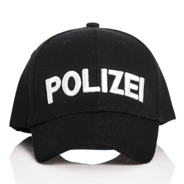 Polizei Cap Kinder schwarz
