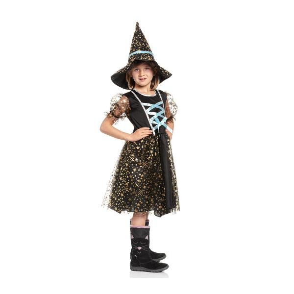 Hexen Kostüm Kinder blau