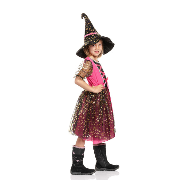 Hexen Kostüm Kinder pink 104