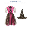 Hexen Kostüm Kinder pink 128