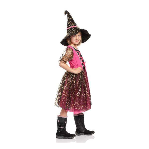 Hexen Kostüm Kinder pink 140
