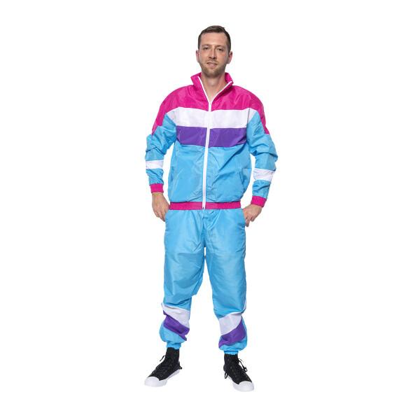 80er Jahre Herren Kostüm Trainingsanzug 48-50
