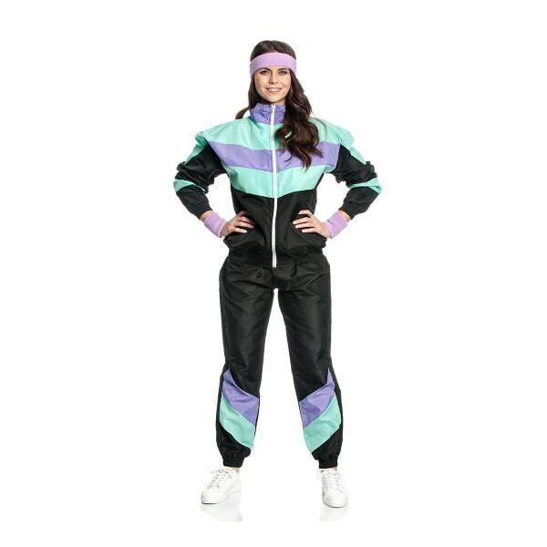80er Jahre Tainingsanzug Damen Kostüm 44-46