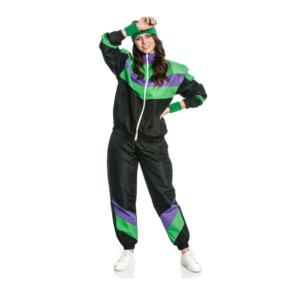 Trainingsanzug Kostüm Aerobic Damen 80 er 36-38