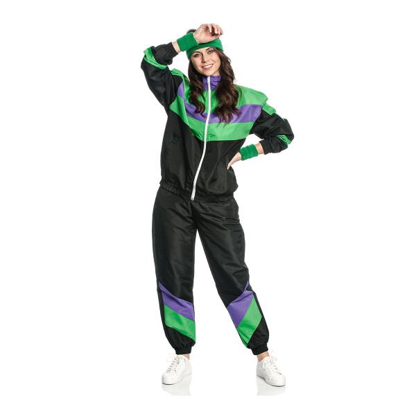 Trainingsanzug Kostüm Aerobic Damen 80 er 44-46