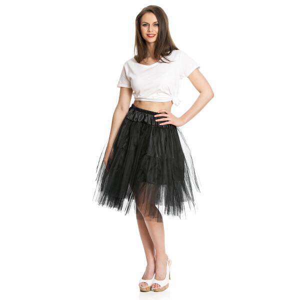 petticoat damen schwarz
