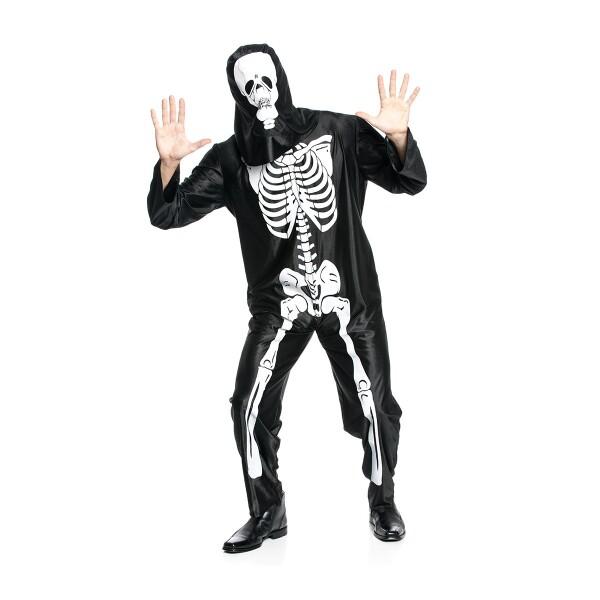 skeleton herren schwarz