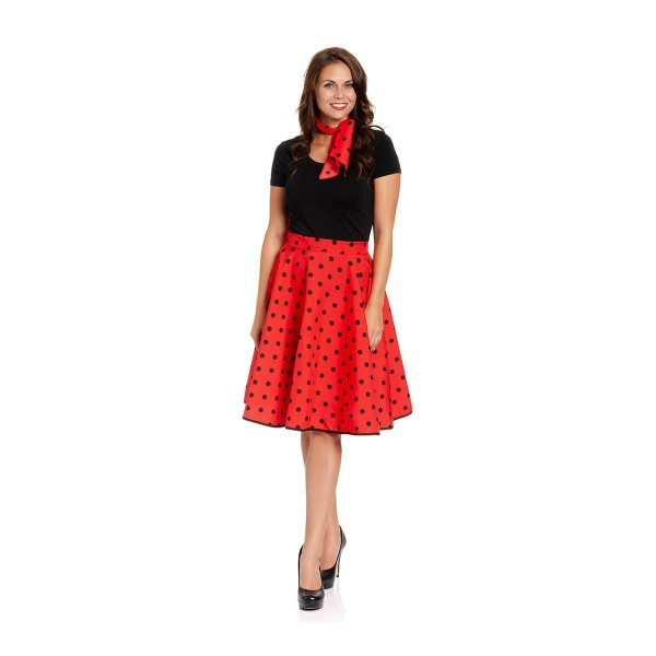 rockabilly rock damen rot-schwarz