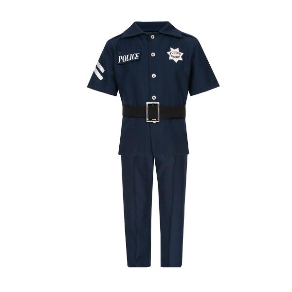 polizist kostüm kinder mit polizeimütze