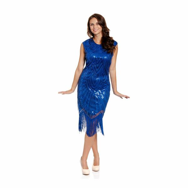 20er Jahre Kleid Damen blau M