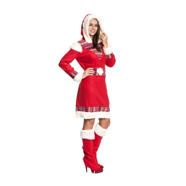 eskimo kostüm damen rot