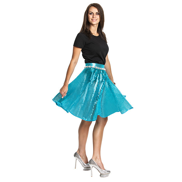 disco rock damen blau
