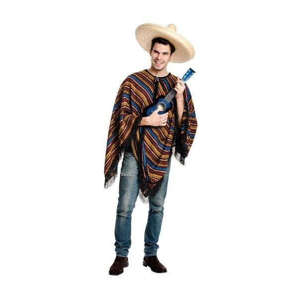 Poncho Mexikaner Kostüm Herren Bequem Verkleidet Kostümplanet 22