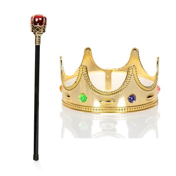 königskrone kinder mit zepter