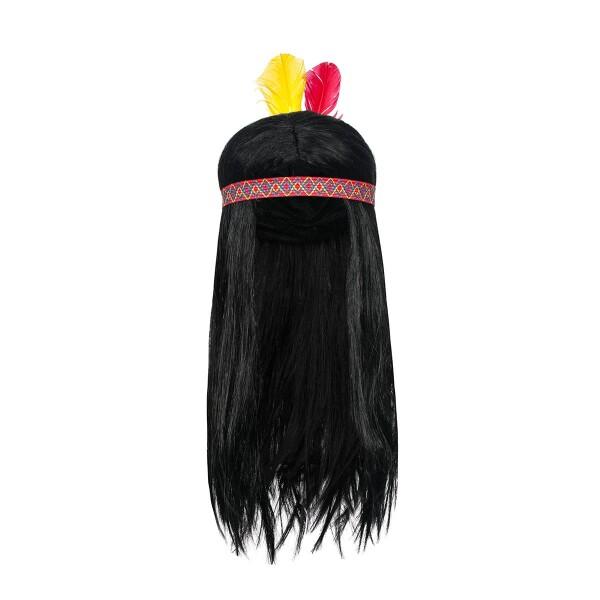 indianer perücke herren mit federschmuck