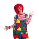 wolltünnes clown perücke rot