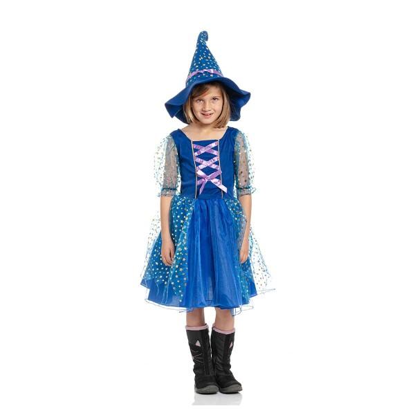 zauberin kostüm mädchen blau