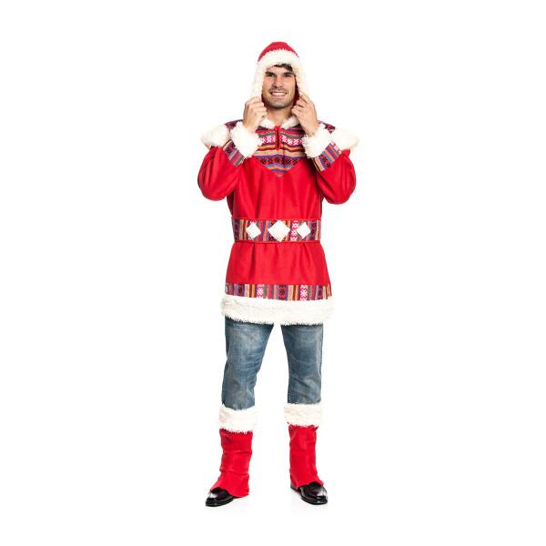 kostüm eskimo herren rot
