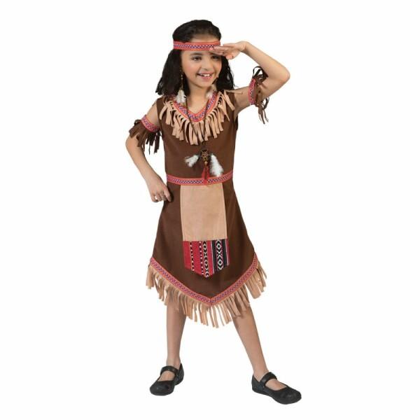 Indianerin Mädchen braun 140