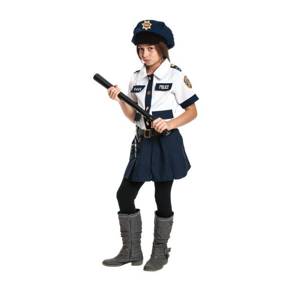 Polizistin Mädchen blau 140