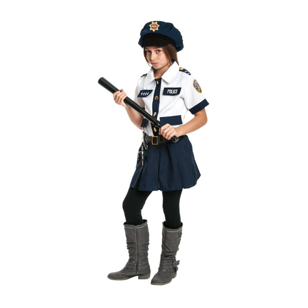 Polizistin Mädchen blau 152