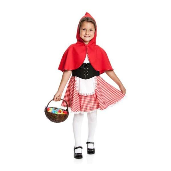 Rotkäppchen Mädchen rot 128
