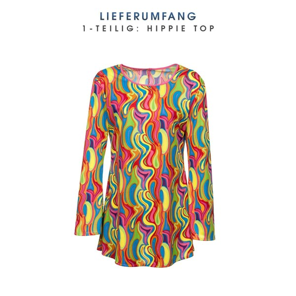 Hippie Top Damen bunt 48-50