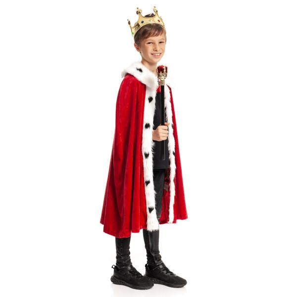 könig kostüm kinder rot