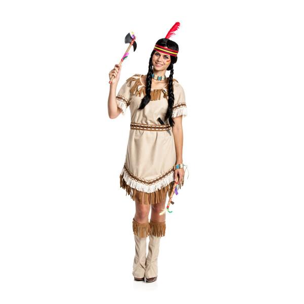 Indianerin Damen beige 32