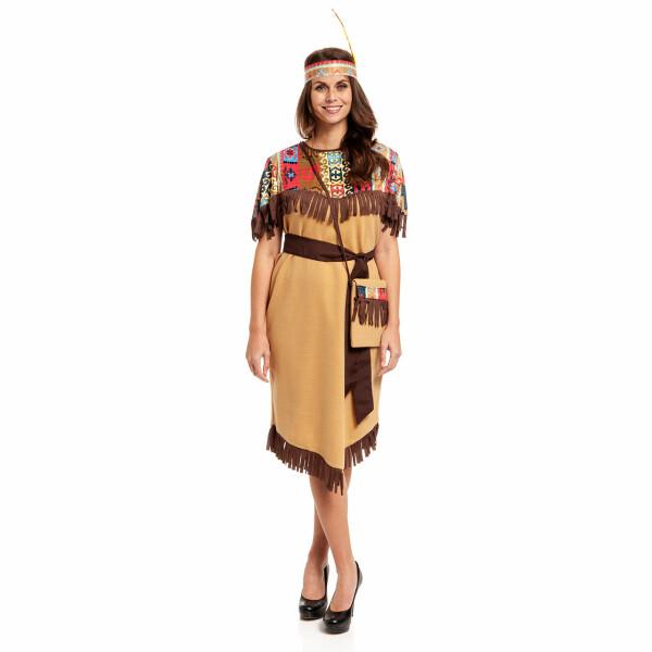 Indianerin Damen braun 52-54