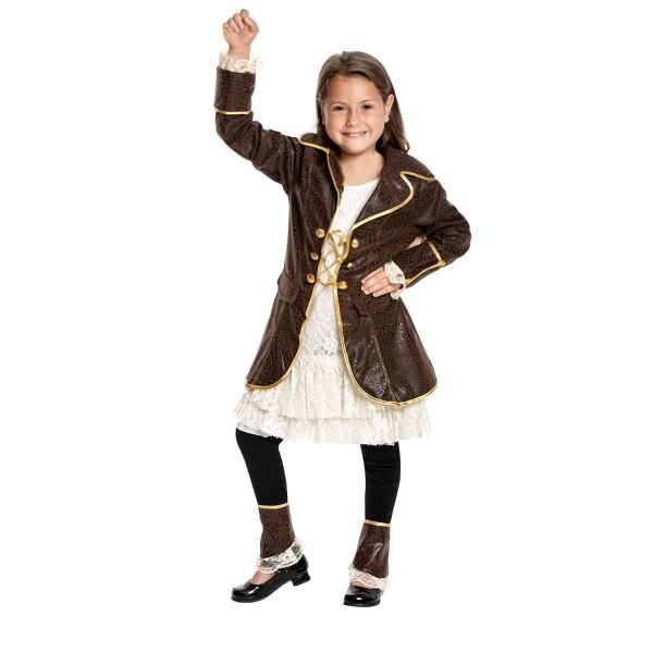 Piratin Mädchen braun 128