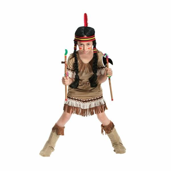 Indianerin Mädchen beige 140
