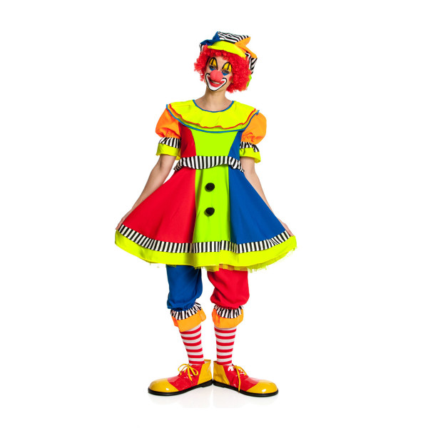 Clown Damen bunt 36-38