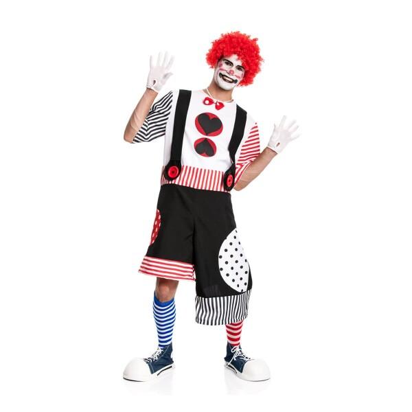 kostüm clown herren schwarz-rot