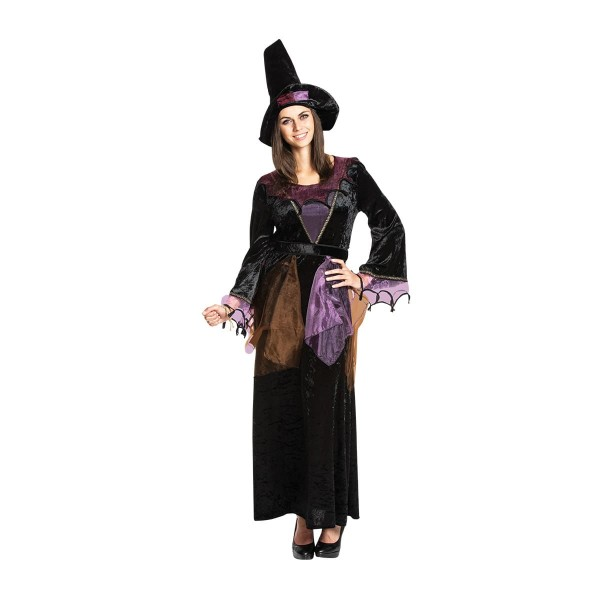 Hexe Damen schwarz 48-50